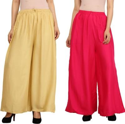 Guru Nanak Fashions Regular Fit Women's Beige, Pink Trousers