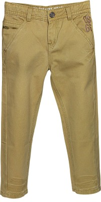 Blue Giraffe Regular Fit Boy's Brown Trousers