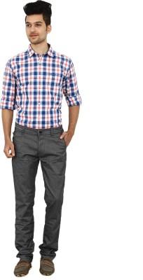 Carbon Slim Fit Men's Grey Trousers