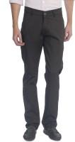 Carolus Regular Fit Mens Brown Trousers