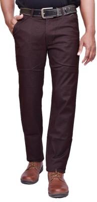 American Noti Slim Fit Men's Brown Trousers