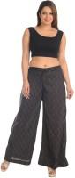 Salwar Studio Women's Clothing - Salwar Studio Regular Fit Women's Black, Grey Trousers