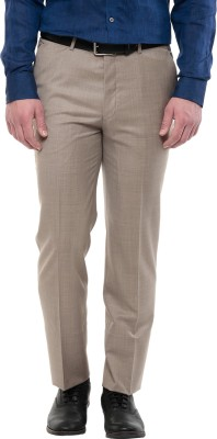 GIVO Slim Fit Men's Brown Trousers