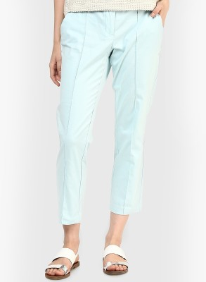 Vero Moda Regular Fit Women's Light Blue Trousers