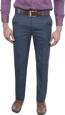 Machu Slim Fit Men's Blue Trousers