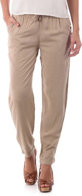 House of Tantrums Regular Fit Women,s Beige Trousers