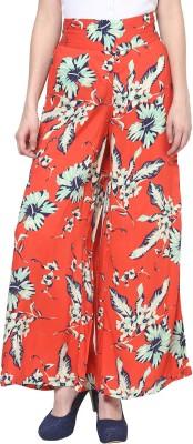 TheGudLook Regular Fit Women's Orange Trousers