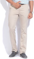 Allen Solly Regular Fit Mens Beige Trousers