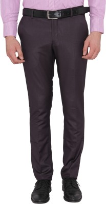 Donear NXG Slim Fit Men's Maroon Trousers