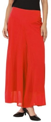 PINK SISLY Regular Fit Women's Red Trousers