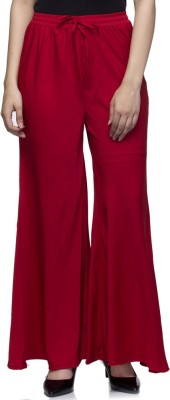 Laabha Regular Fit Women's Red Trousers at flipkart