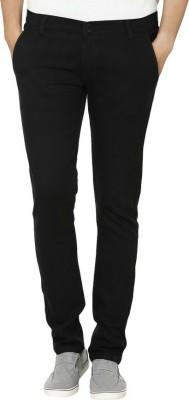 Ico Blue Star Regular Fit Men's Black Trousers