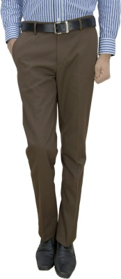 Integration Slim Fit Men's Brown Trousers