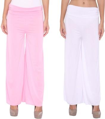 Zadine Regular Fit Women,s Pink, White Trousers