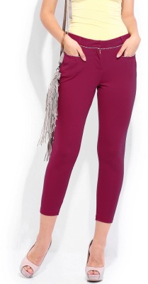 Dressberry Regular Fit Women's Pink Trousers at flipkart