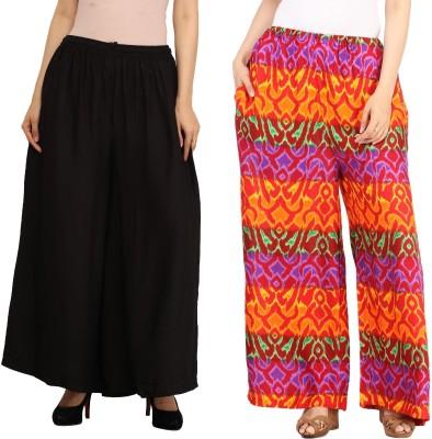 Guru Nanak Fashions Regular Fit Women's Black, Multicolor Trousers