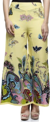 Laabha Regular Fit Women's Yellow Trousers at flipkart