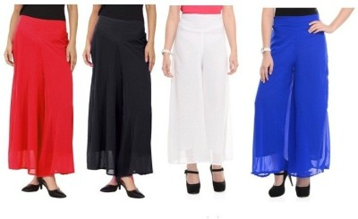Edge Plus Regular Fit Women's Black, Red, White, Blue Trousers
