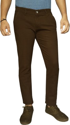 damler Slim Fit Men's Brown Trousers