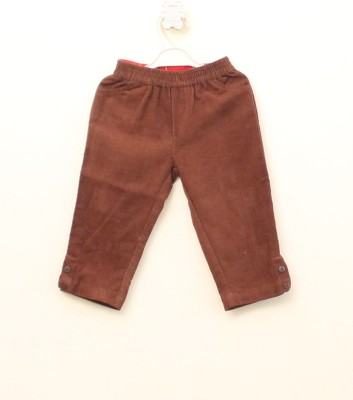 My Little Lambs Regular Fit Baby Girl's Brown Trousers