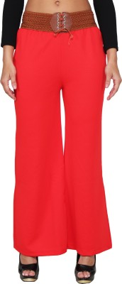 LGC Regular Fit Women's Red Trousers