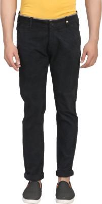 ELVIN Slim Fit Men's Black Trousers