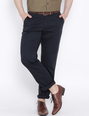 ZAVLIN Slim Fit Men's Dark Blue Trousers