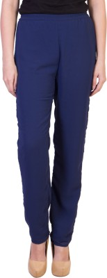Damsel Slim Fit Women's Blue Trousers