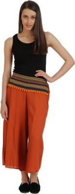 Holidae Regular Fit Women,s Orange Trousers