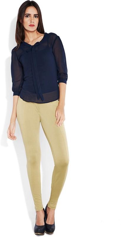 Park Avenue Slim Fit Women's Brown Trousers