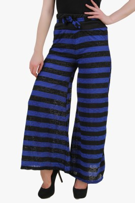 Modattire Regular Fit Baby Boy's Blue, Black Trousers