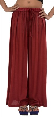 Skirts & Scarves Regular Fit Women's Maroon Trousers at flipkart