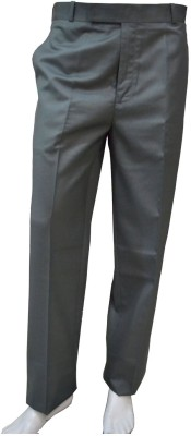 Smart Regular Fit Men's Grey Trousers