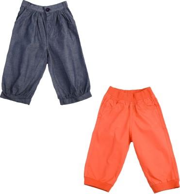 Addyvero Regular Fit Girl's Dark Blue, Orange Trousers