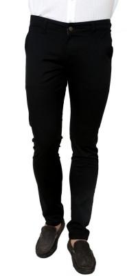 Zaab Slim Fit Men,s Black Trousers