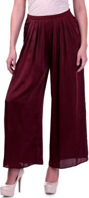 Sassafras Regular Fit Women,s Maroon Trousers