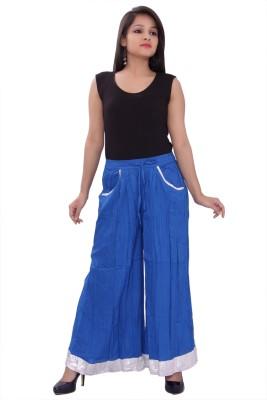 A&K Regular Fit Women's Blue Trousers