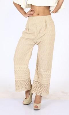 Bottoms More Slim Fit Women's Beige Trousers