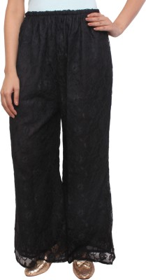 White Feather Regular Fit Women's Black Trousers