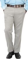 Value Attire Regular Fit Mens Grey Trousers