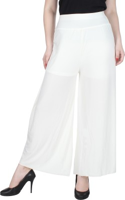Broadstar Regular Fit Womens White Trousers