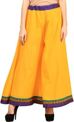 VASTRAA FUSION Regular Fit Women's Yellow Trousers