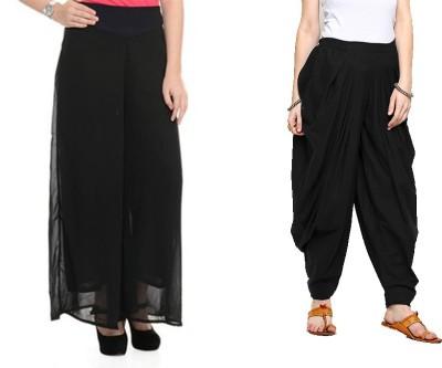 Feminine Regular Fit Women's Black Trousers