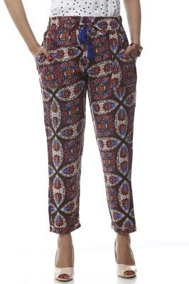 Lyla Regular Fit Women's Multicolor Trousers