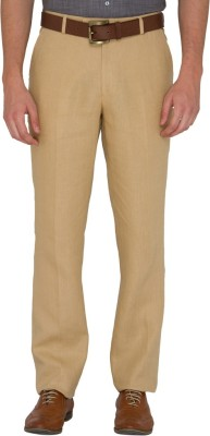 JB Studio Slim Fit Men's Linen Beige Trousers