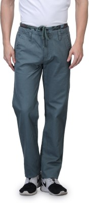 Wear Your Mind Slim Fit Men's Green Trousers