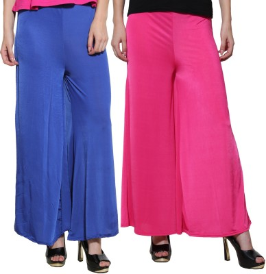 Both11 Regular Fit Womens Purple, Blue Trousers