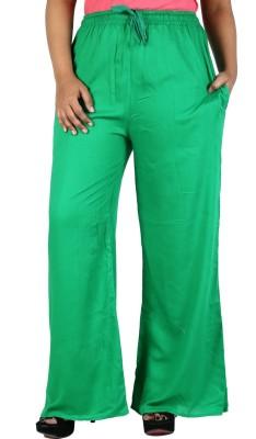 Nimya Regular Fit Women's Green Trousers