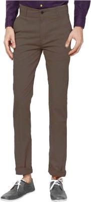Good Karma Men's Brown Trousers