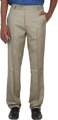 Warp & Weft Slim Fit Men's Brown Trousers
